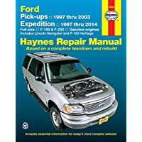 Haynes Ford Pick-ups & Expedition Lincoln Navigator Automotive Repair Manual: F-150 1997 Through 2003, Ford Expedition 1997 Through 2014, Ford F-250 ... 2004, Lincoln Navigator 1998 Through 201