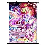 Yovvin No Hay Juegos sin Vida Volumen de Fotos Kakemono Tela Poster, Anime Pared de Arte (Estilo 02,30 x 45...