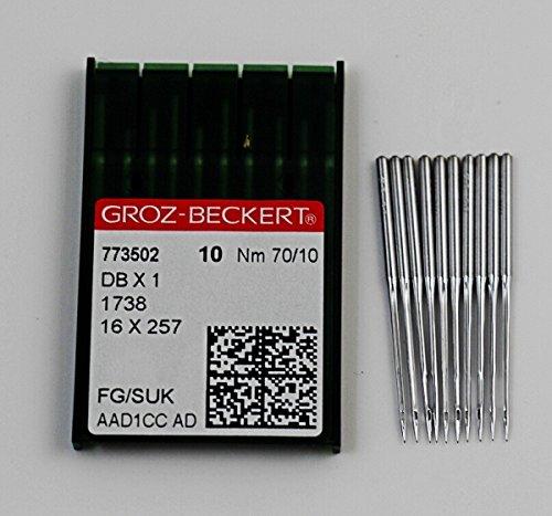 CHENGYIDA 10er- Packung, Groz-Beckert Db1 1738 DB X 1 # 10 Nähmaschinennadeln, 70/10, industrielle Nähnadel - Industrial Nähen Maschine Nadeln