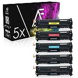 5 Alphafax Toner kompatibel zu HP LaserJet Pro 300 400 color M351 M451 M475 MFP M375 DN NW DW - CE410X CE411A CE412A CE413A 305A - Schwarz je 4.000 Seiten Color je 2.600 Seiten