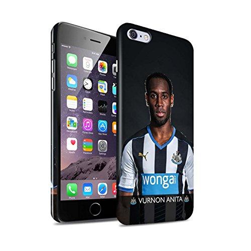 Officiel Newcastle United FC Coque / Clipser Brillant Etui pour Apple iPhone 6+/Plus 5.5 / Pack 25pcs Design / NUFC Joueur Football 15/16 Collection Anita