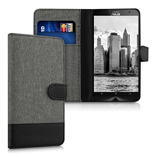 kwmobile ASUS ZenFone 2 ZE550ML/ZE551ML Hülle - Kunstleder Wallet Case für ASUS ZenFone 2 ZE550ML/ZE551ML mit Kartenfächern und Stand