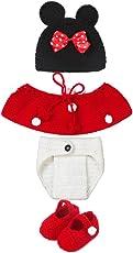 Newborn Fotografia Prop bambino、Cute Baby Infant Mouse Costume Photo Photography Prop 0-6 mesi Neonato Rosso Newborn Fotografia