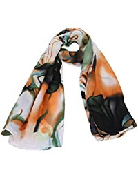 niceEshop(TM) Women Spring Autumn Fashion Elegant Soft Cotton Flower Printed Scarf/Scarves/Wrap/Shawl