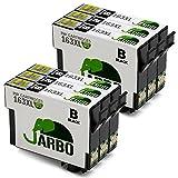 JARBO 163XL Kompatibel mit Epson 16XL 16 Druckerpatronen für Epson WorkForce WF-2630WF WF-2530WF WF-2760DWF WF-2510WF WF-2010W WF-2650DWF WF-2520NF WF-2660DWF WF-2750DWF WF-2540WF, 6er-Pack Schwarz