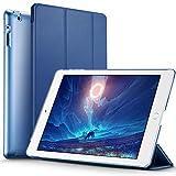 iPad 2 / 3/ 4 Hülle, ESR Yippee Series Auto Aufwachen/Schlaf Funktion Wickelfalz PU Ledertasche mit Durchschaubar Rückseite Schutzhülle für iPad 2 3 4(Marineblau)