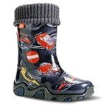 Demar Stormer Lux, stivali di gomma imbottiti, per bambini, Nero (Auto), 26/27 EU