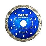 WEFEX Diamant-Trennscheibe Super-Cut 125 mm x 22,2 mm Feinsteinzeug Kacheln Keramik Fliesen