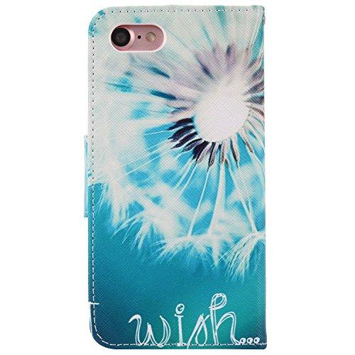 PU Silikon Schutzhülle Handyhülle Painted pc case cover hülle Handy-Fall-Haut Shell Abdeckungen für Smartphone Apple iPhone 7 (4.7 Zoll)+Staubstecker (1) (9AE) 4