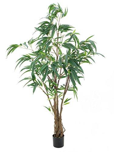 artplants Kunstzpflanze Longifolia Ficusbaum, grün, getopft, 180 cm – Künstlicher Ficus/Deko Pflanze