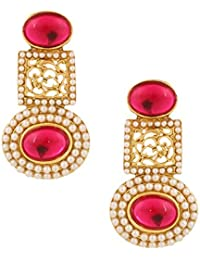 Dancing Girl Wedding Bridal Jewellery Rani Pink Metal Alloy Necklace Sets Jewellery Sets For Women