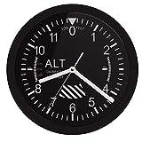 Pmrioe Altímetro Letrero De Neón Led Reloj De Pared Medidor De Altitud Seguimiento Piloto De Avión De Aire Medición De Altitud Moderno Reloj De Pared Reloj Gag Regalo