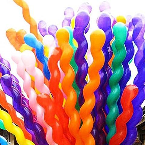 Hosaire Ballons de Mariage Hen Party Decor Gonflable Latex Spirale Ballons Géant Long Multicolore pour Mariage Soirée Anniversaire Couleur aléatoire 50PCS