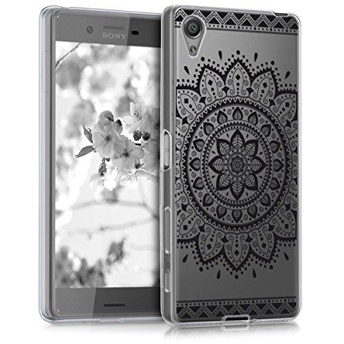 kwmobile Sony Xperia X Hülle - Handyhülle für Sony Xperia X - Handy Case in Schwarz Transparent