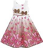Sunboree Mädchen Kleid Braun Schmetterling Doppelklicken Bogen Binden Gr.128-134