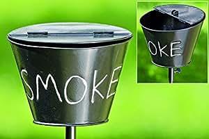 gartenstab mit aschenbecher smoke klappascher gartendekoration balkon oder terrasse. Black Bedroom Furniture Sets. Home Design Ideas