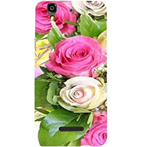 Casotec Rose Flowers Design Hard Back Case Cover for Micromax Yu Yureka AQ5510 / AO5510