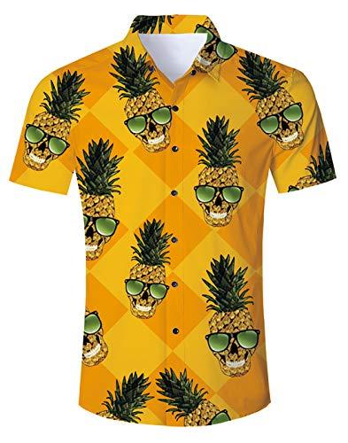 Jungen Kurzarm-dinosaurier (Idgreatim Männer Freizeithemd Jungen gedruckt Galaxy Dinosaurier Kurzarm Hemden Shirt Cool Graphic T Hemden Shirt)