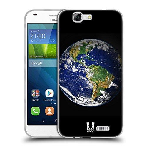 Head Case Designs Erde Raumwunder Set 1 Soft Gel Hülle für Huawei Ascend G7 (Globale Der Erde Bilder)