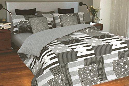 Juego de sábanas estampado Estrellas INDIANA (para cama de 90x190/200)
