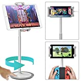 Klearlook Tablet&Cell Phone Stand, Height&Multi-Angle Adjustable-Tilt 76 Degree, Swivel 360 Degree Rotation St