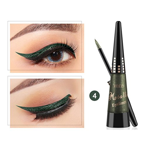 Liquid Eyeliner,gaddrt Metallic Shiny Rauchige Augen Lidschatten Waterproof Glitter (D)