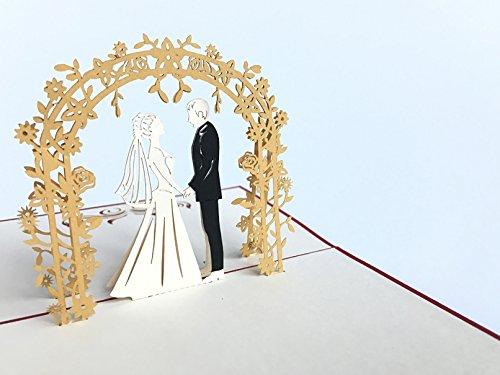 Wedding Day 3D Pop up Grußkarten Jahrestag Baby Geburtstag Ostern Halloween Mutter Vater New Home NEW YEAR Thanksgiving Valentine Hochzeit Weihnachten