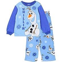 Con licencia Frozen Olaf muñeco de nieve 2 piezas Juego de pijama de forro polar (