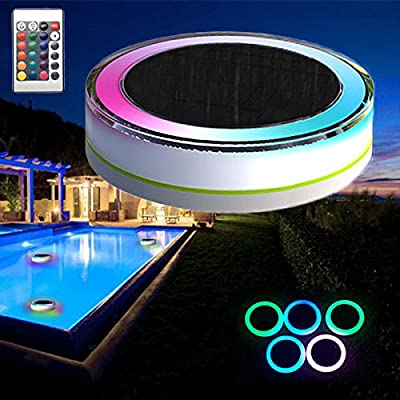 Bluelover Remote Control Solar Power LED Colorful Swimming Pool Light Garden Waterproof Floating Lamp from Bluelover