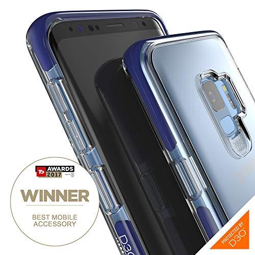 Gear4 Piccadilly Klarsichthülle mit verbessertem Stoßschutz [D3O-geschützt], schlankes, Robustes Design für Samsung Galaxy S9 – Blau - 6 Blau Iphone Otterbox-fälle