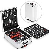 TIMBERTECH 383tlg. Werkzeugkoffer Set mit Trolleyfunktion Werkzeugkiste Werkzeugkasten Werkzeugtrolley