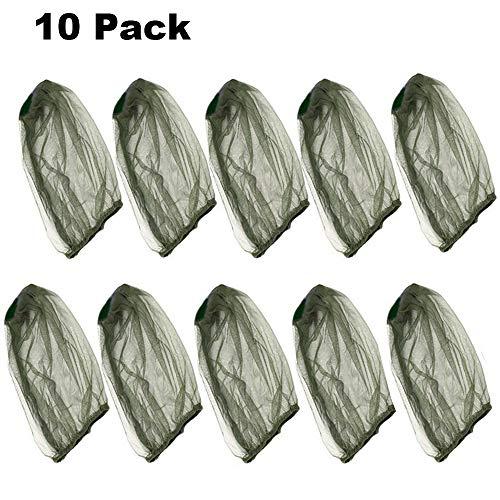 Goter Paquete de 10 mosquiteros de Primera Calidad con Orificios Finos extraños, Malla de Rostro liviano, Malla de Malla para la Red de Malla, Actividades al Aire Libre (Verde)