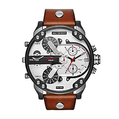 Diesel Reloj para Hombre de Cuarzo con Correa en Cuero DZ7394