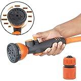 [Sponsored]HOKIPO® 9 Pattern High Pressure Garden Hose Nozzle Water Spray Gun With Connector
