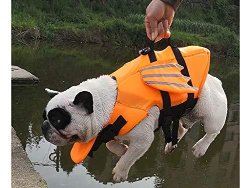 Schwimmhilfe für Hunde, Hundeschwimmweste Schwimmtraining Dog Flotation Device, Schwimmmantel , Reflektierende Weste Verstellbare Outdoor-Badebekleidung Sommer Badebekleidung für Hunde (Yellow, S) (Sun-kleid Für Hunde)