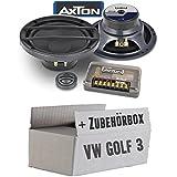VW Golf 3 - Lautsprecher Boxen Axton ATC26 | 16cm 2-Wege Kompo System Auto Einbauzubehör - Einbauset