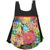 Mochila de tela Flores, Mochila de tela colores, Mochila original para mujer, Mochila