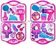 Girls Toy Vanity Beauty Cosmetic Bag Carry Case Hair Dryer Make Up Gift Set
