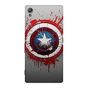 Enticing Blood Red Round Back Case Cover for Xperia Z4