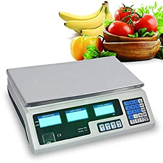 AceFox 40kg Electronic Digital Pricing Super Market Fruits Postal Weigh Scale Shop