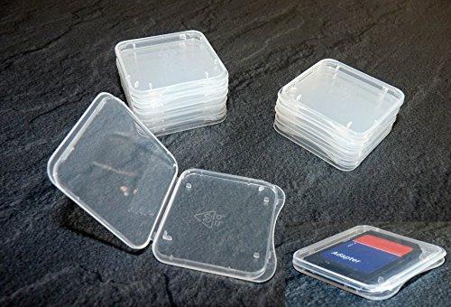 10 Stück Schutzhülle für SD Speicherkarte Hülle ( EXTRA FLACH )