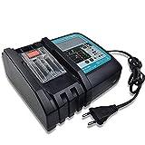 Caricatore da 18 V, 3 A, con schermo LCD, collegamento USB, per Makita DC18RC DC18RA DC18RD BL1860 BL1850 BL1840 BL1830 BL1820 BL1430 BL1440 BL1450