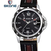 Hermosos Relojes de los Hombres de Moda Cinturon Cinturon de Acero Calendario Reloj Deportivo Reloj de