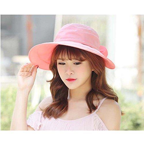 Détachables Sun Shade Chapeau Empty Top Femme Eté UV Trajet en voiture Plage Portable Outdoor ( couleur : Rose ) Rose