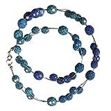 Rayher 14677000 Bastelpackung Collier Èllaine, blau töne
