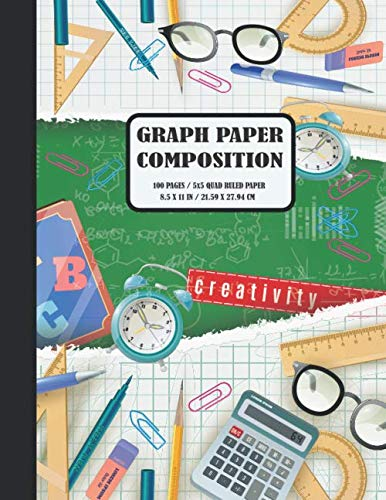 Graph Paper Composition: Quad Ruled 5 squares per inch: Composition Notebook for Students: Squared Graphing Paper (Notebooks For Students) 4 Parer