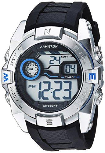 Armitron Sport hombres de cuarzo resina Reloj de fitness, color: negro (modelo: 40/8380blu)