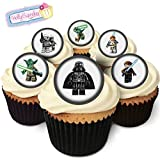 "24 Essbare Kuchendekorationen: 6 Figuren inspiriert von ""Star Wars"" / 24 ""Star Wars"" Decorations"