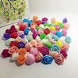 SwirlColor 30 pezzi PE schiuma Mini Rosa fiori artificiali per la festa di nozze fiori finti decorazione auto Corona decorativo fai da te San Valentino