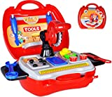 matrasa Spielzeugkoffer Werkstatt - Werkzeugkoffer für Jungen - Kinderspielzeug